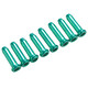 Red Cycling Products end sleeves Outer Brake Cable for shift and brake cables set of 8 green